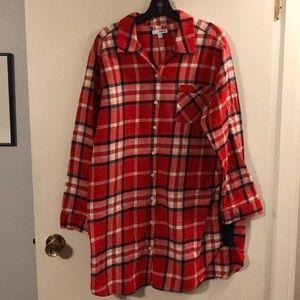 Sonoma plaid flannel nightshirt
